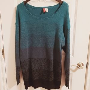 H&M Green and black knit sweater dress